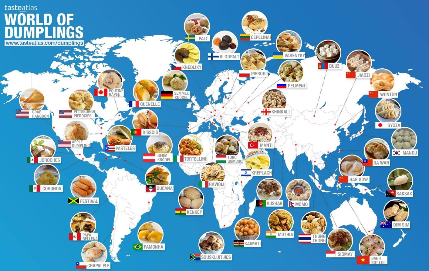 Грузинские блюда на карте мира